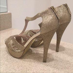 Gorgeous Sparkly Glitter Platform Heels